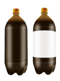 Beer in two liter plastic bottles. Royalty Free Stock Photo