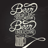Beer understand 3 - phrase Stock Image