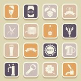 Beer universal icons Stock Photo