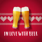 Beer valentine poster Stock Images