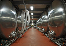 Beer Vats Royalty Free Stock Photography