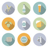 Beer Vector Flat Icons Royalty Free Stock Images