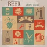 Beer Vector Flat Retro Icons Stock Photo