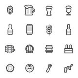 Beer vector icons, labels, signs. symbols and design elements , restaurants, pubs, cafe Royalty Free Stock Images