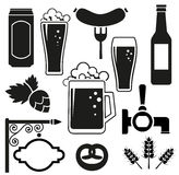 Beer vector icons set Royalty Free Stock Photos