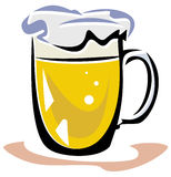 Beer vector illustration Royalty Free Stock Images