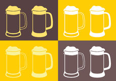 Beer. Vector illustration (EPS 10 Stock Photos