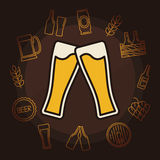 Beer vector illustration Stock Images
