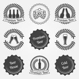 Beer vector labels and emblems Royalty Free Stock Photo