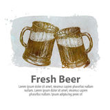Beer vector logo design template. pub, brasserie icon Stock Images