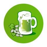 Beer-16 verde Fotografia Stock