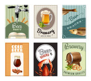 Beer Vertical Banners Set Stock Images