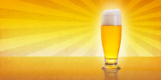Beer on vintage background Royalty Free Stock Photo