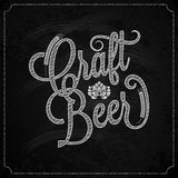 Beer vintage chalk lettering background Royalty Free Stock Image