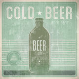 Beer Vintage Design Template Stock Photos