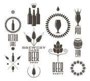 Beer. Vintage.  labels and icons Royalty Free Stock Image