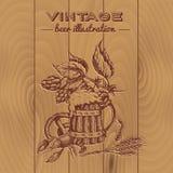 Beer Vintage Style Design stock illustration