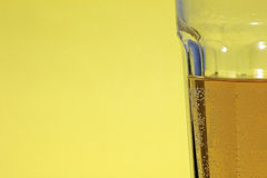 Beer vision. An image of a glass of beer from the side royalty free stock image