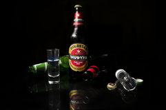 Beer and vodka Royalty Free Stock Image