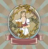 Beer waitress Royalty Free Stock Images