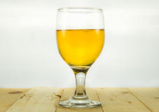 Beer in water goblet. On white background Royalty Free Stock Photo