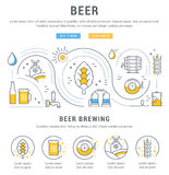 Beer Web Banner Royalty Free Stock Image