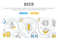 Beer Web Banner Stock Photo