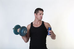 Beer or weights Royalty Free Stock Photo