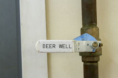Beer well control Royalty Free Stock Photo