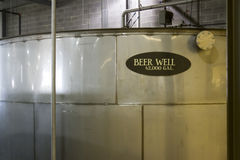 Beer well in distillery stock image
