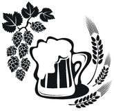 Beer and wheat ear Royalty Free Stock Photography