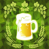 Beer and wheat ears Royalty Free Stock Images