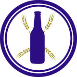 Beer and Wheat Logo Stock Photography
