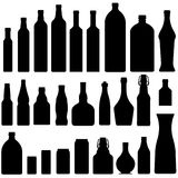 Beer, Wine, And Liquor Bottles In Vector Royalty Free Stock Photos