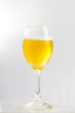 Beer in a wine glass. Beer and bubble in a wine glass Stock Photo