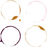 Beer and Wine Glass Rings Royalty Free Stock Images