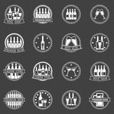 Beer and wine labels vector set Stock Photos