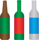 Beer wine spirit bottle Stock Photos