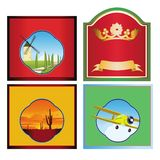 Beer, wine , spirits labels crests Stock Image
