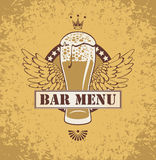 Beer and wings Royalty Free Stock Photography