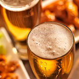 Beer and wings at celebration Stock Images