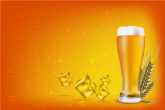 Beer With Grain Royalty Free Stock Images