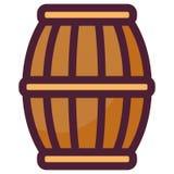 Beer wooden barrel icon. Vector illustration design stock illustration