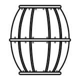 Beer wooden barrel icon. Vector illustration design vector illustration