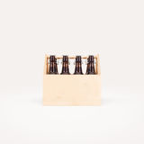 Beer wooden box mock up isolated. Stock Photography