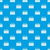 Beer wooden box pattern seamless blue. Beer wooden box pattern repeat seamless in blue color for any design. Vector geometric illustration Royalty Free Stock Photos