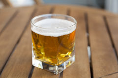 Beer on a wooden table Stock Photo