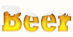 Beer word Stock Photos