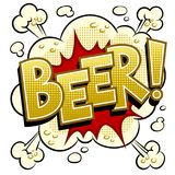 Beer word comic book pop art vector illustration. Beer word pop art retro vector illustration. Isolated image on white background. Comic book style imitation Stock Photo