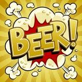 Beer word comic book pop art vector illustration. Beer word pop art retro vector illustration. Comic book style imitation Stock Photography
